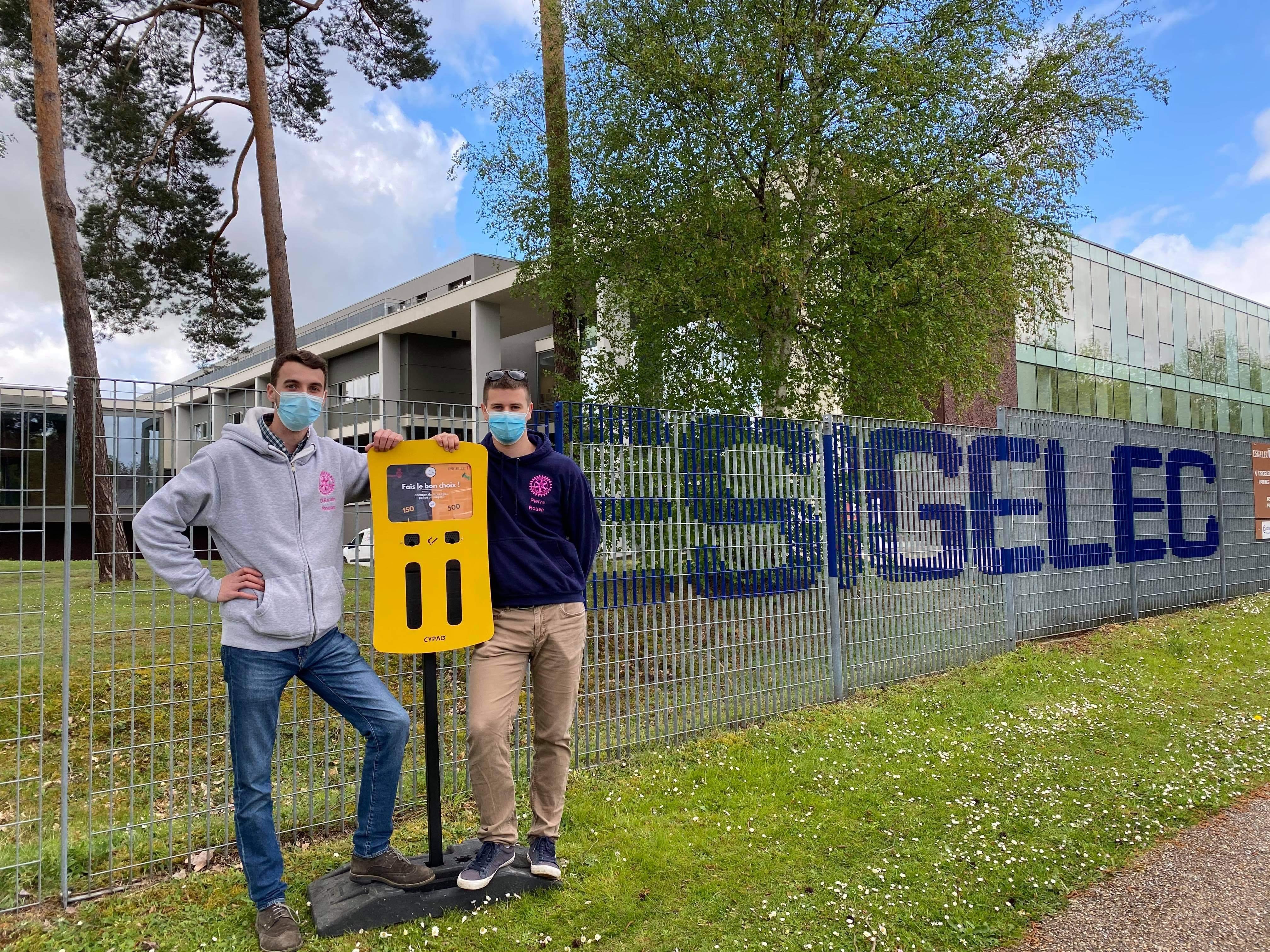 A l'ESIGELEC, les étudiants recyclent les mégots